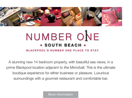 Number One South Beach - Blackpool's Number One place to stay - more information